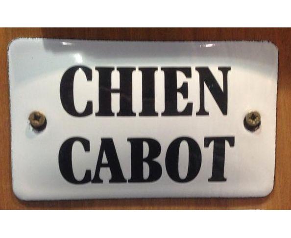 Chien cabot - 6 x 10 cm - Plaque émaillée