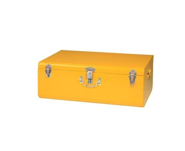valise jaune pm malle en m tal sur deco and me. Black Bedroom Furniture Sets. Home Design Ideas