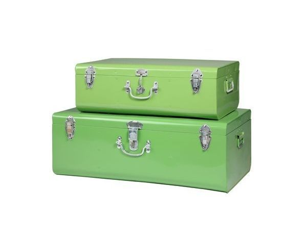 valise vert clair pm malle en m tal sur deco and me. Black Bedroom Furniture Sets. Home Design Ideas