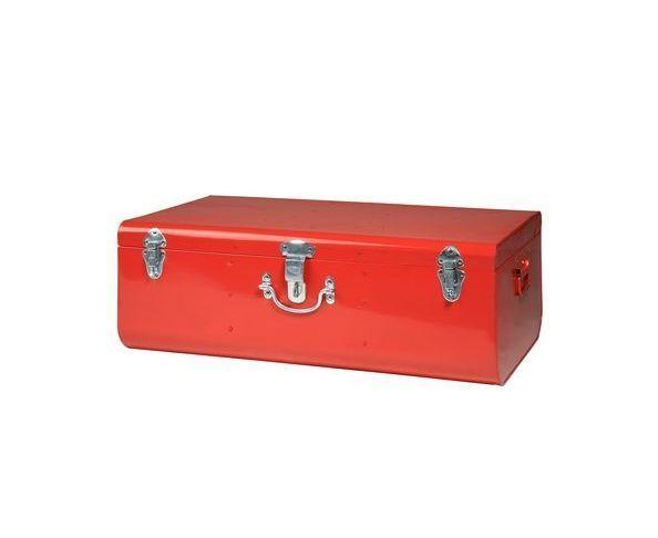 valise rouge gm malle en m tal sur deco and me. Black Bedroom Furniture Sets. Home Design Ideas