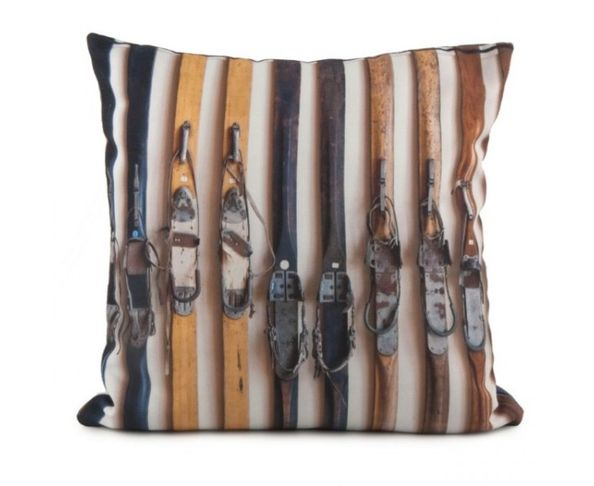 Coussin Skis Vintage 40x40 cm - Coast and Valley