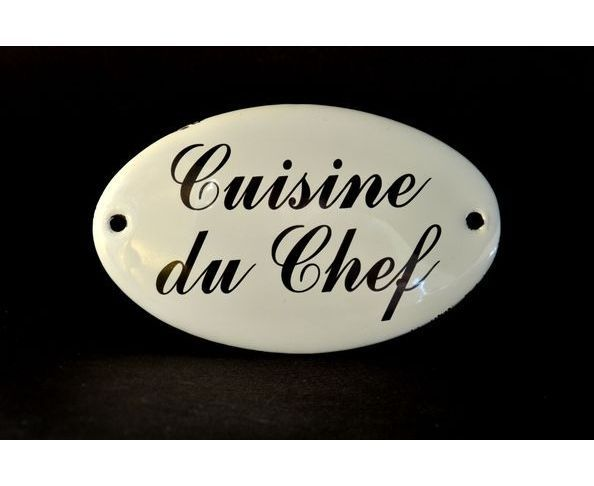 plaques message cuisine du chef plaque maill e sur deco and me. Black Bedroom Furniture Sets. Home Design Ideas