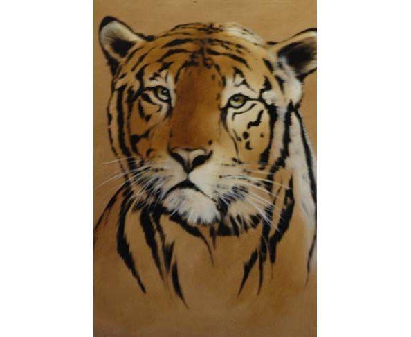 tableau portrait chat tigr peinture trompe l oeil pictures to pin on pinterest. Black Bedroom Furniture Sets. Home Design Ideas