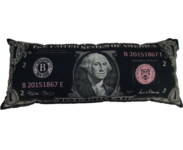 Coussin dollar 70x30 Noir - My Dollar