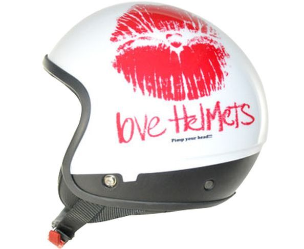Coque de casque Lips White