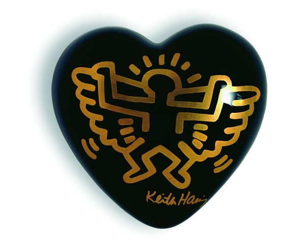 Coeur ange noir Keith Haring - The Heart Gallery - Creativando