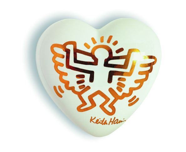Coeur ange blanc Keith Haring - The Heart Gallery - Creativando