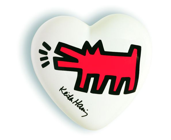 Coeur Barking Dog Keith haring - The Heart Gallery - Creativando