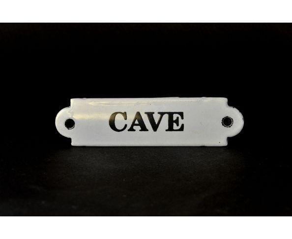 Cave - Plaque émaillée