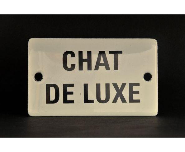 Chat de luxe - Plaque émaillée