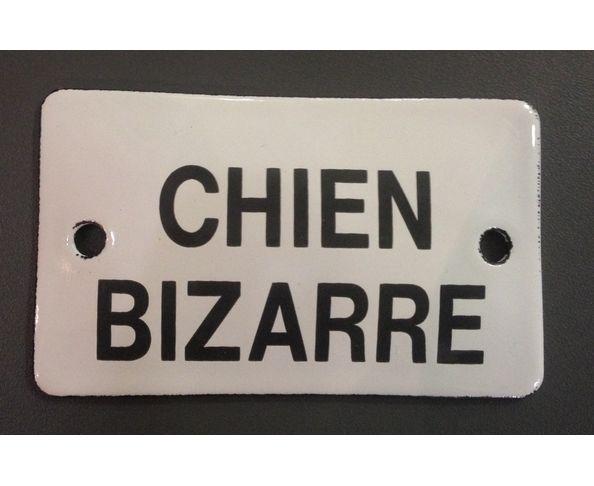 Chien bizarre - 6 x 10 cm - Plaque émaillée