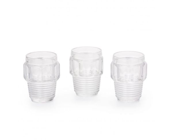Verres, set de 3, Diam. 8,2cm h. 10,5 - Machine Collection Diesel