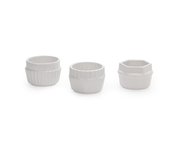 Ramequins en porcelaine, set de 3, Cm.9 h.6 - Machine Collection Diesel