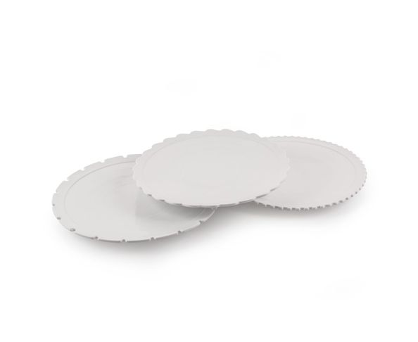 Assiettes plates en porcelaine, set de 3 - Machine Collection Diesel