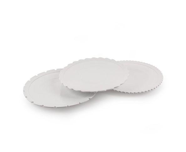 Assiettes plates en porcelaine, set de 3 - Machine Collection Diesel