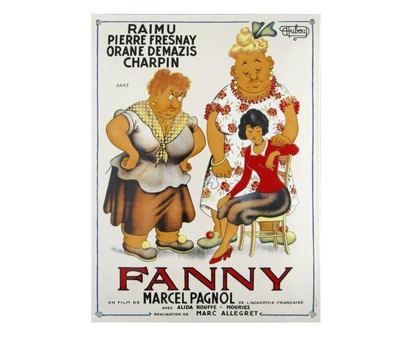 Fanny d'après Dubout - Plaque émaillée