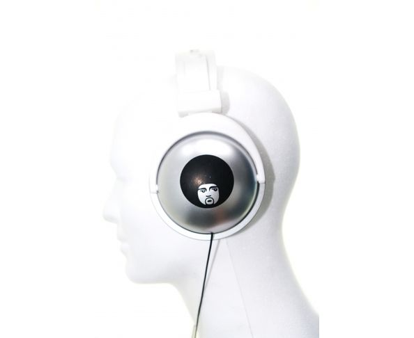 Casque audio gris Afro
