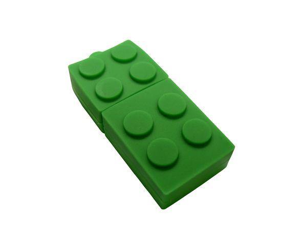 Clé USB 4 Go en forme de Lego Vert