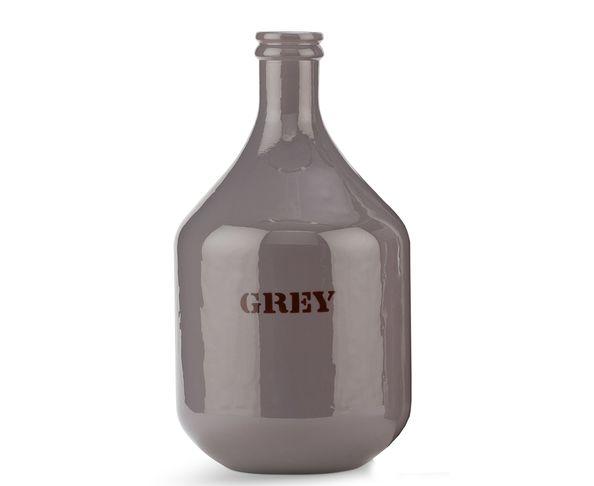 Vase GREY en verre recyclé