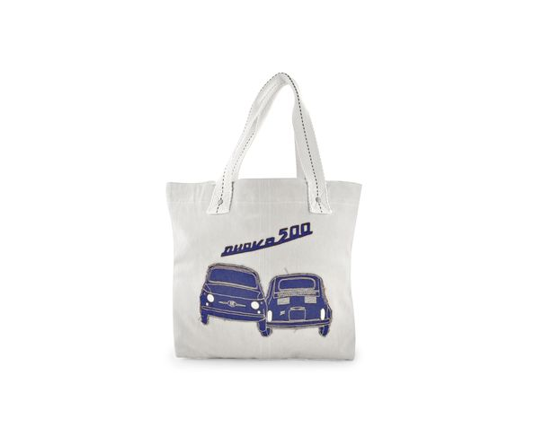 Sac en toile Fiat - Blanc et bleu