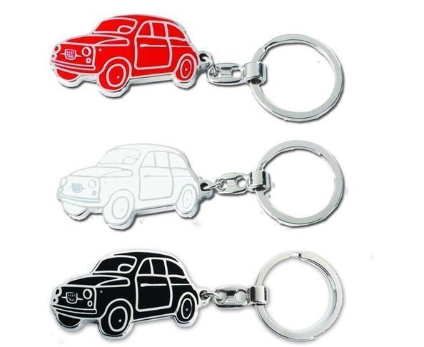 Porte-clefs FIAT 500 blanc