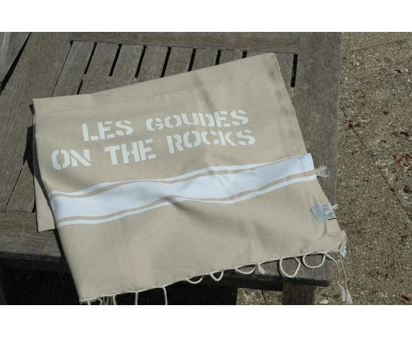 Fouta Les Goudes on the Rocks Beige