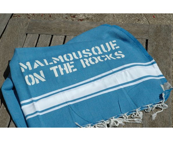 Fouta Malmousque on the Rocks Bleu foncé