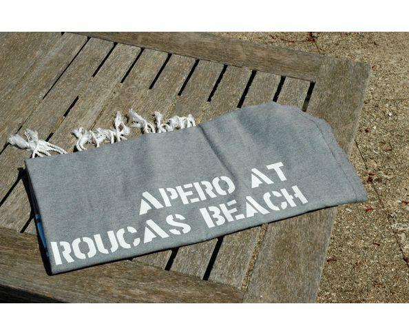 Fouta Apéro at Roucas beach Gris