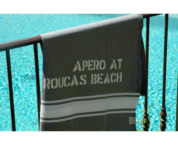 Fouta Apéro at Roucas beach Gris