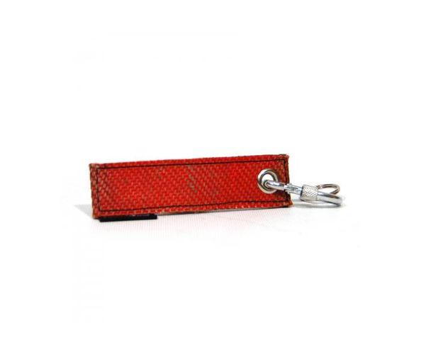 Porte-clés Nick rouge en tuyau de pompier
