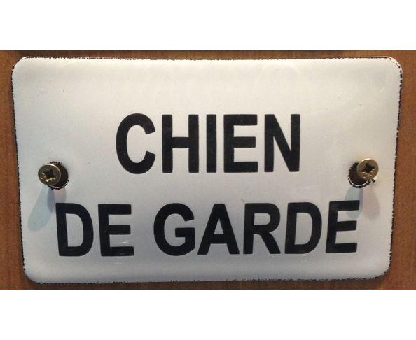 Chien de garde - 6 x 10 cm - Plaque émaillée