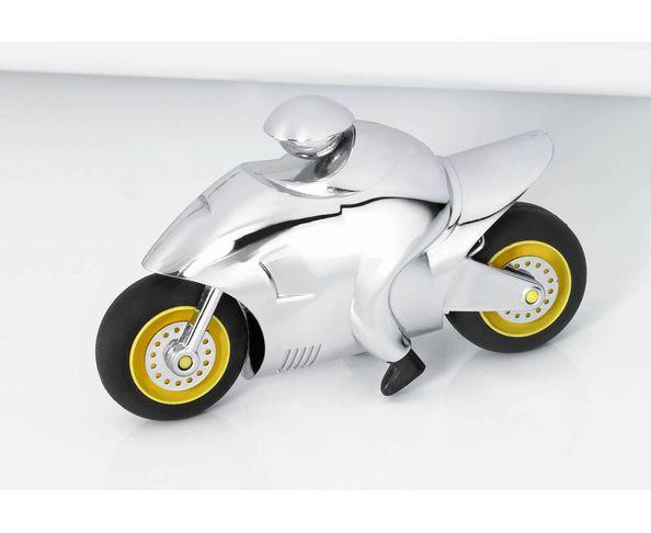 Moto chromée presse papier - Troika