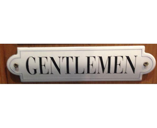 Gentlemen - 50 x 200 mm - Plaque émaillée relief