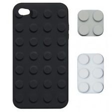 Coque Building Block Flexible Noir et Blanc iPhone 4