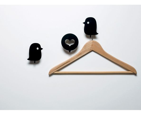 Pat&egrave;res Domestic Birds and heart black