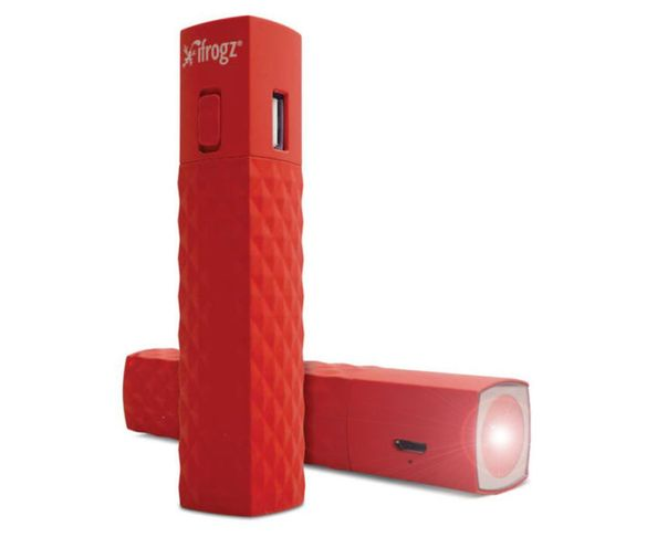 Batterie d'appoint pour smartphone avec torche-red Ifrogz Golite 2600