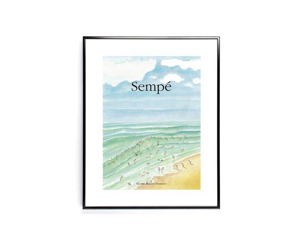 Affiche Sempe Baignade  - Tirage argentique - Image Republic