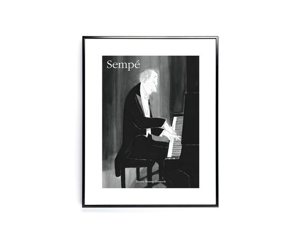 Affiche Sempe Piano - Tirage argentique - Image Republic