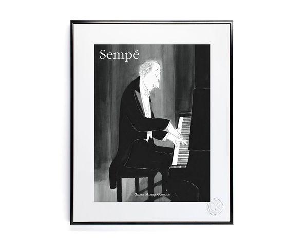 30x40 cm SEMPE PIANO - Tirage Argentique - Image Republic
