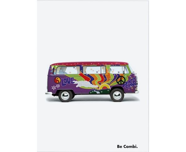 Affiche Be Combi Flower - Peace & Love  - Tirage argentique - Image Republic