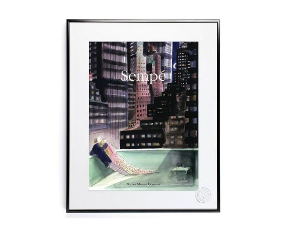 Affiche Sempe CoupleLune  - Tirage argentique - Image Republic