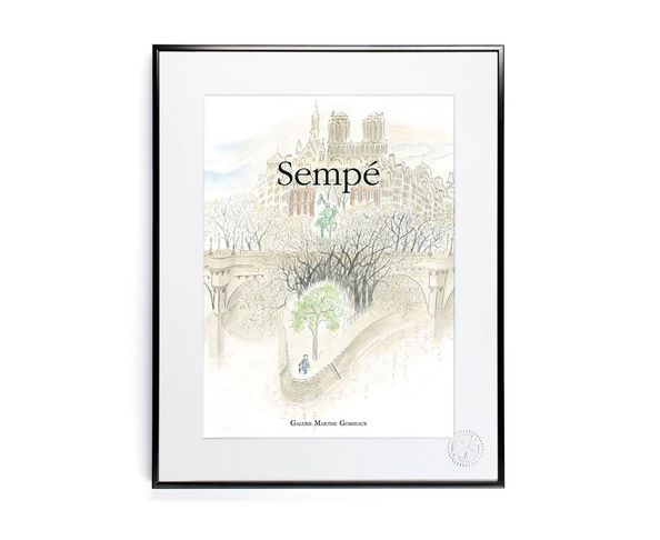 Affiche Sempe PontNeuf  - Tirage argentique - Image Republic