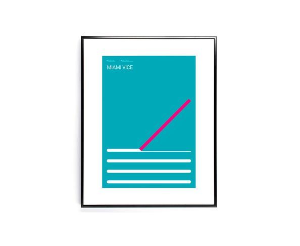 30x40 cm EXERGIAN TV MIAMI VICE - Tirage Argentique - Image Republic