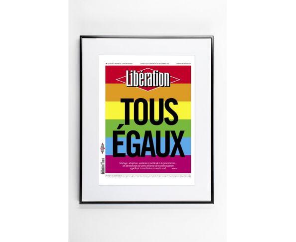 30x40 cm LIBE TOUS EGAUX - Tirage Argentique - Image Republic