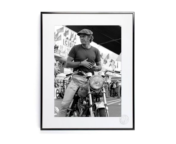30x40 cm Photos D'art & D'archives STEVE MCQUEEN MOTO - Tirage Argentique - Image Republic