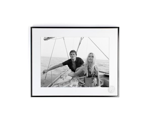 30x40 cm Photos D'art & D'archives Bardot Delon Voilier - Tirage Argentique - Image Republic