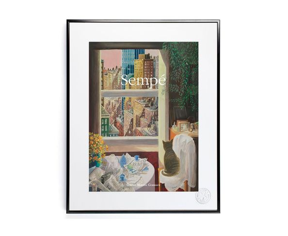 30x40 cm SEMPE CHAT NYC - Tirage Argentique - Image Republic