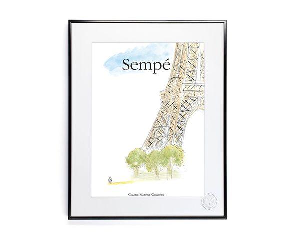 30x40 cm SEMPE TOUR EIFFEL - Tirage Argentique - Image Republic