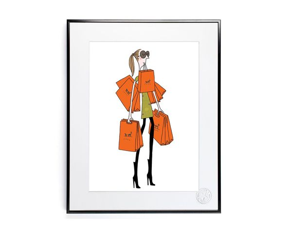 30x40 cm SOLEDAD SAC ORANGE - Tirage Argentique - Image Republic