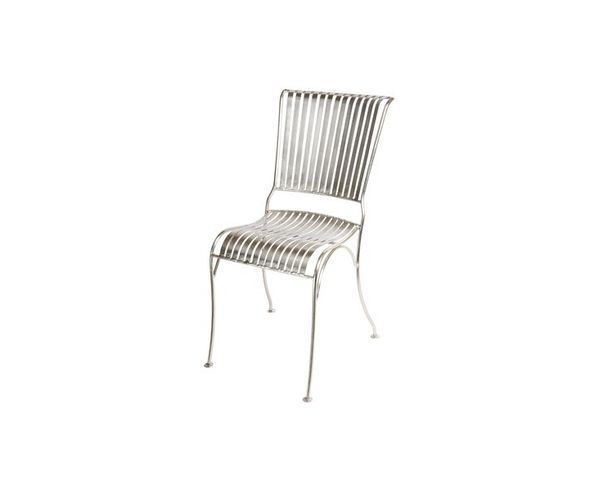 Chaise métal nickel